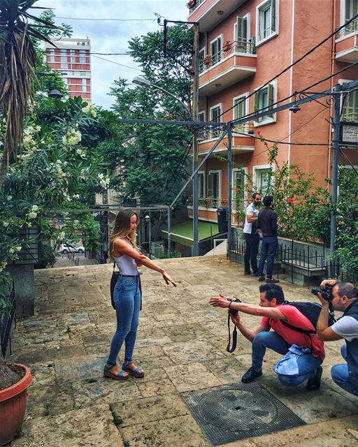 Behind the scenes😆............................................За кадром� (Beirut, Lebanon)