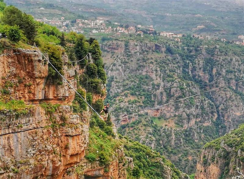 The first edition of Lebanon's highline festival, hosted in the kadisha...