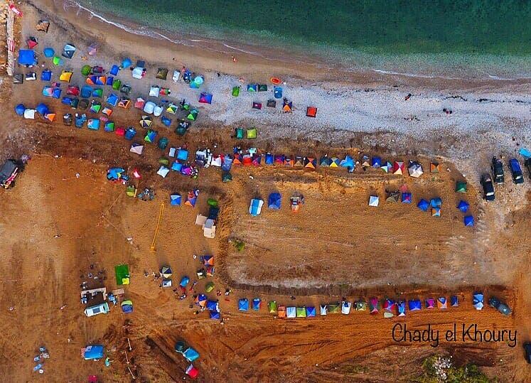 Bird's eye on last weekend event on Damour beachPhotocredits: @chady.el.k