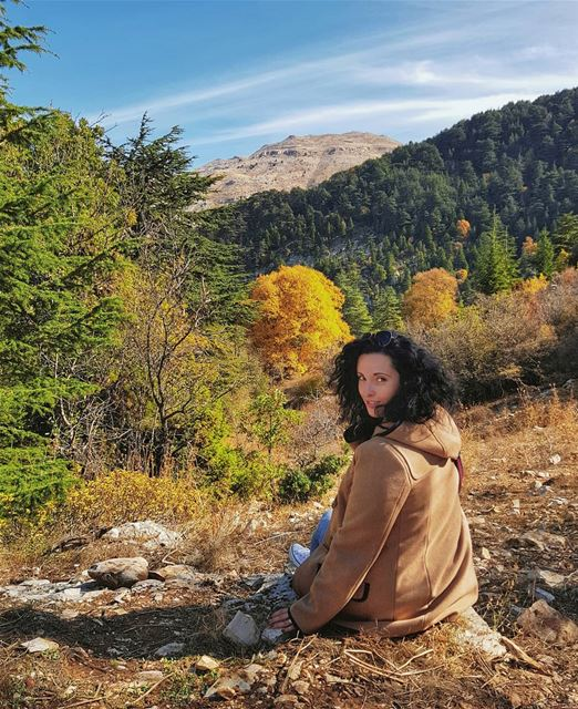 A little refreshing throwback to golden autumn in Lebanese mountains 🍁У М (Horsh Ehden)