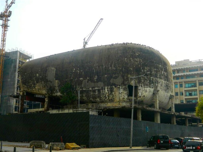 The egg, the oval shaped movie theatre which was a part of a commercial...