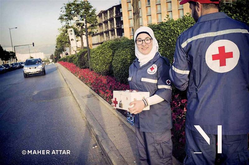 "Meet Noor .. Red Cross Volunteer .. ""To help, without asking whom!,""... (Beirut, Lebanon)"