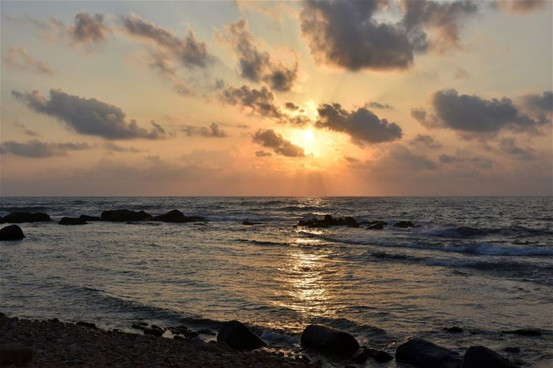 Yesterday's sunset in Sour (Tyre, Tyr), one of the best spots to watch the... (Tyre, Lebanon)