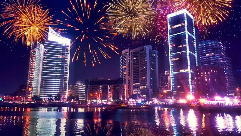 I Feel  Fireworks when i think of you! (Beirut, Lebanon)