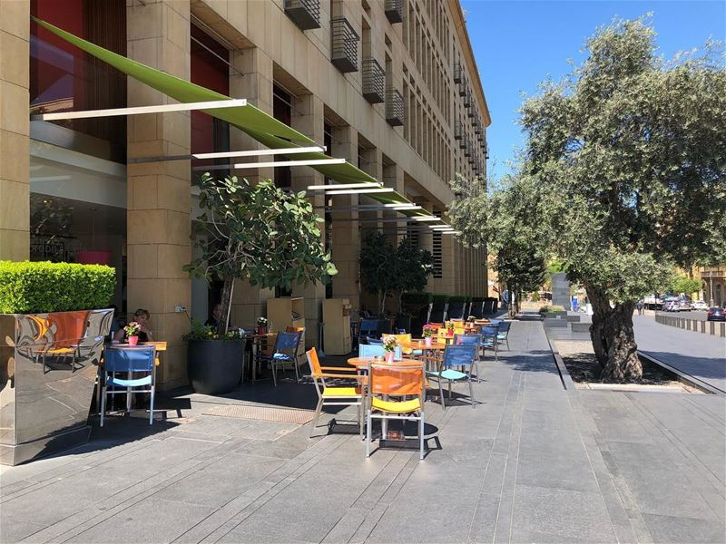 coffeeshop  downtown  lebanon🇱🇧  weather  nice  nature  picoftheday ... (Downtown Beirut)