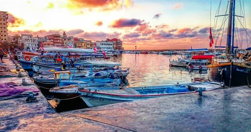 You can't see new places by staying in the port 🚢  takenbyme ... (مدينة صور - Tyre City)