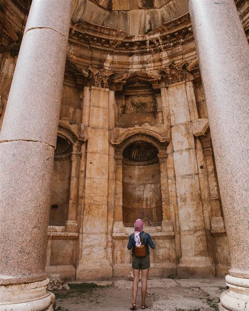 New adventures just behind the corner ≈⠀⠀ ливан  lebanon ... (Baalbek , Roman Temple , Lebanon)