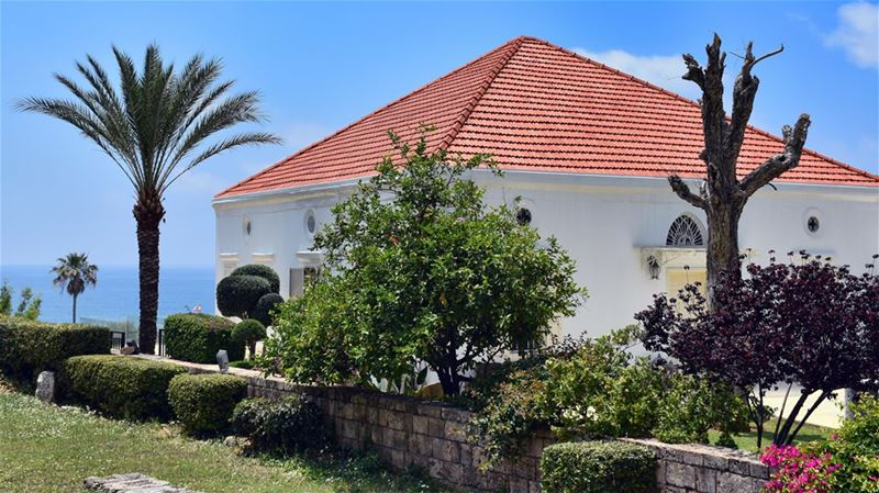 The Red Roofed White House by the Blue Sea beautiful  house  ideal ... (Byblos, Lebanon)