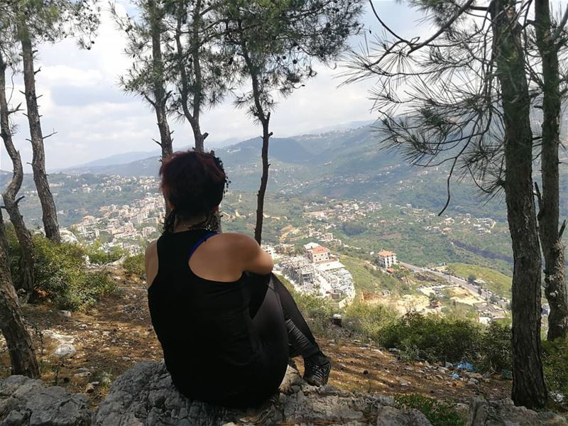 Lets just breathe...☀️ naturelovers  hikingtime  landscape  hiking ... (Chouf)