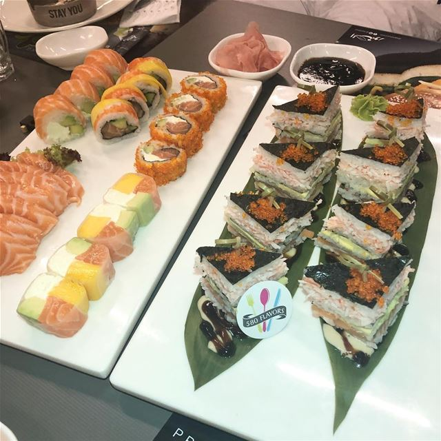 A perfect set of sushi 😍😍 the best @alsaniour @oandcthefreshmarket ... (Al Saniour Zalka)