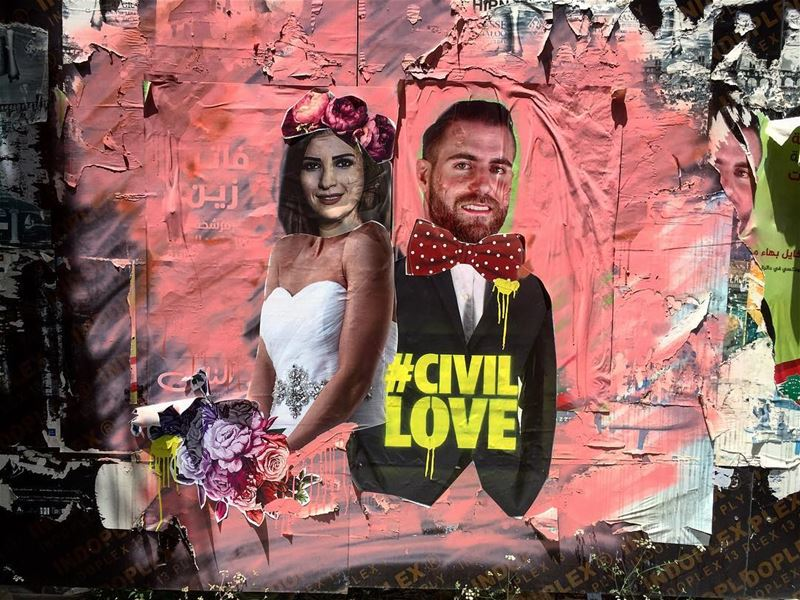 Good morning Beirut. A  streetartist used the photos of two candidates to...