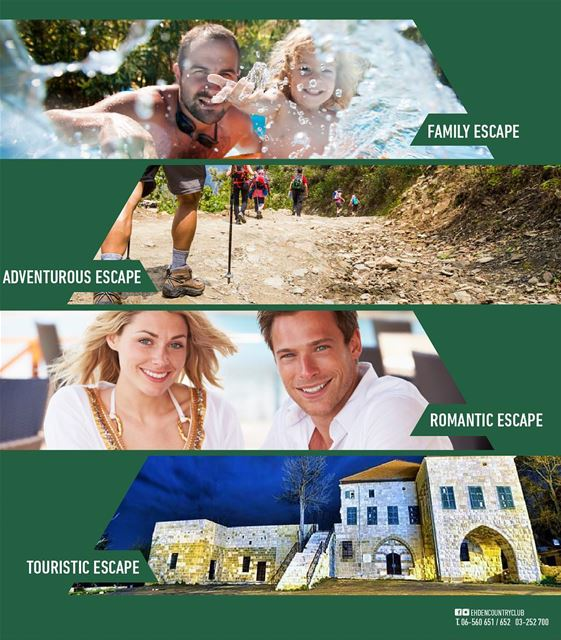 Explore our variety of ESCAPES! Looking for the perfect escape? Choose...