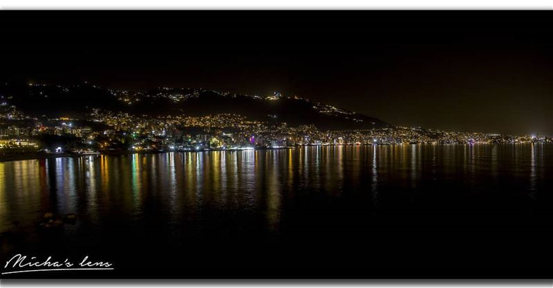 The lights.. jounieh by Night :)  thebestinlebanon  mycountrylebanon ...