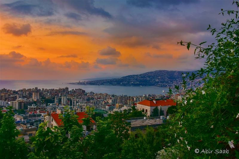 Jounieh bay from Zouk Mikael at sunset time lebanon  zouk  jounieh ... (Zouk Mikael)