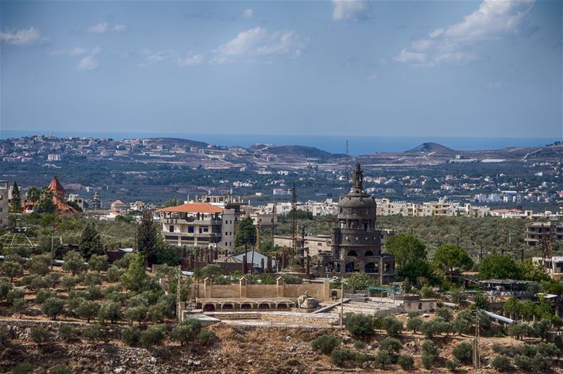 Aito and Black Museum Seen from Deir Hamatoura