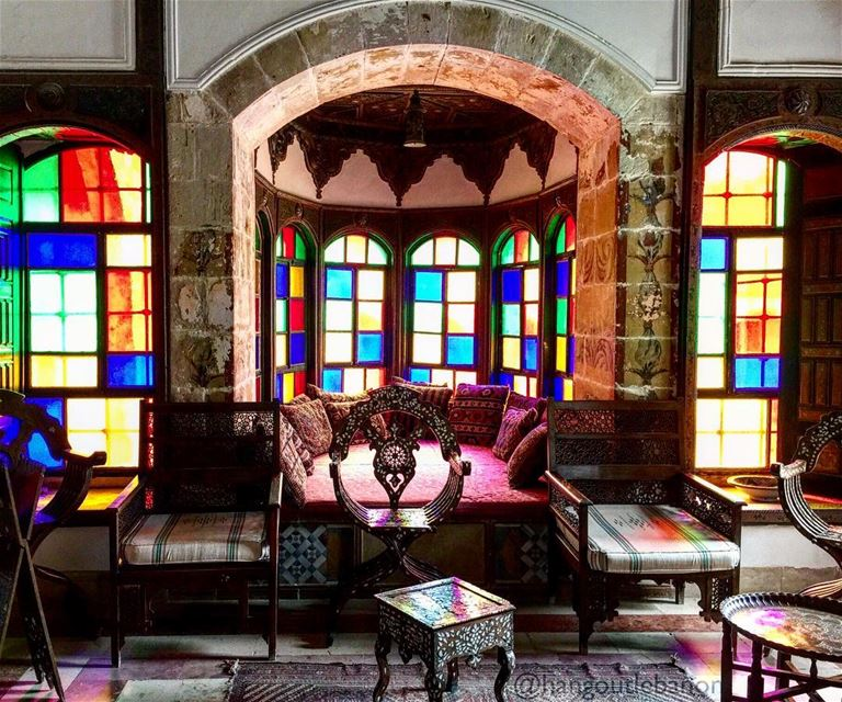 A sitting in colors!- hangoutlebanon  lebanonpocketguide  hangoutchouf ... (Beiteddine Palace)