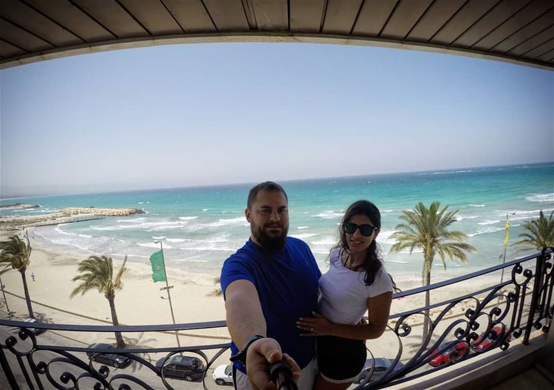 MorningLikeThis  CoupleGoals  SummerVibes  HotelView  Palazzo  Sour ... (Tyre-Sour At Beach)