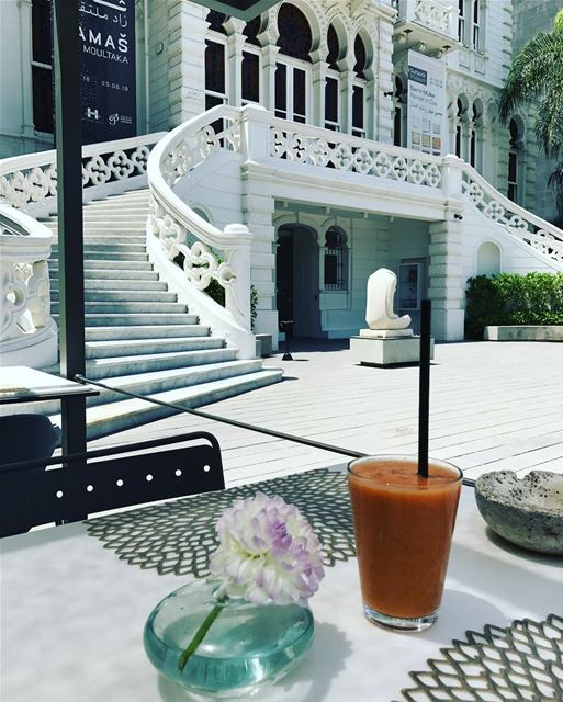 Culture and smoothie @sursockmuseum.... museum  smoothie  beirut ... (Sursock Museum)
