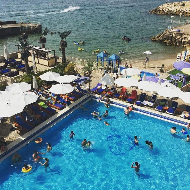 A weekend well spent 😍  LamedinaBeach  LamedinaResort  Jounieh ...