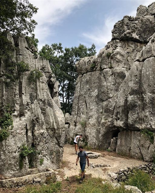 Maze runners.  JabalMoussa  Lebanon  limestone  mountains  trail  hike ...