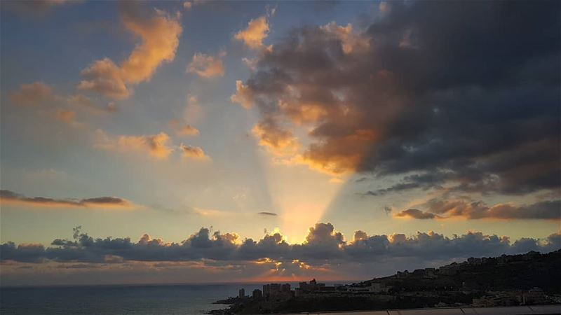"""Clouds come floating into my life, no longer to carry rain or usher storm, (Ghazir, Mont-Liban, Lebanon)"