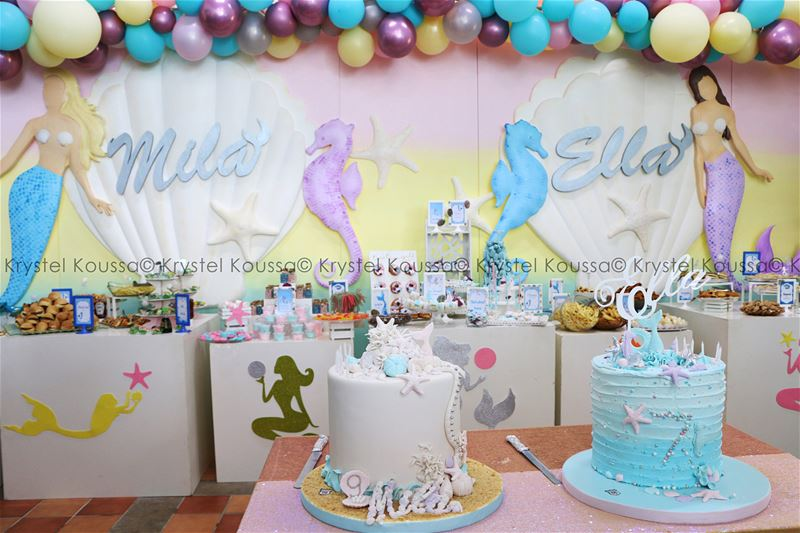 Such a beautiful theme planned by @skykidsjcc for @mila_ella_hachem 's ... (Jeita Country Club)