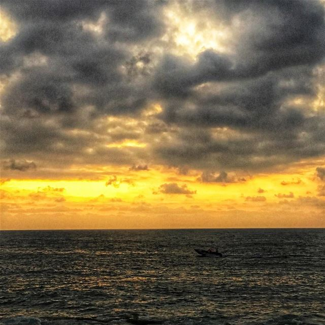 lebanon  beirut  nature  sunset  sea  sky  clouds  magic  beautiful ... (Beirut, Lebanon)