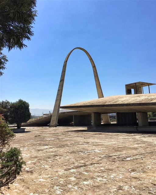 "See Oscar Niemeyer's architecture for lebanon's international fair ground "" (Tripoli, Lebanon)"