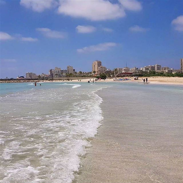 Summer is real😎😎🏊‍♀️🤽‍♀️🇱🇧 summer  beach  whitesand  clean ... (Tyre, Lebanon)