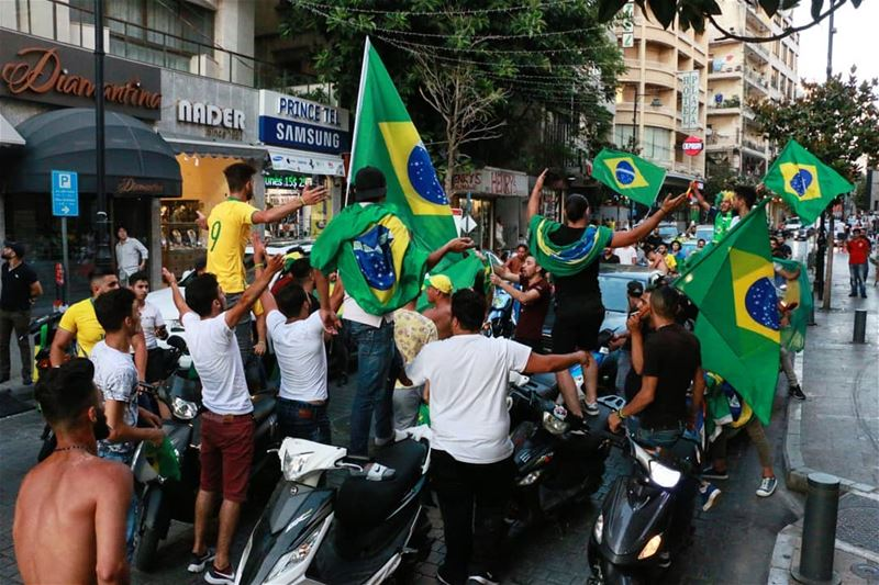 Mabrouk Brazil! And of course Lebanese-Brazilians:))) thisislebanon79 ... (Hamra - حمراء)