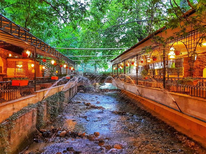 Berdawni early evening  river  restaurant  zahle  livelovebeirut ... (Zahlé, Lebanon)