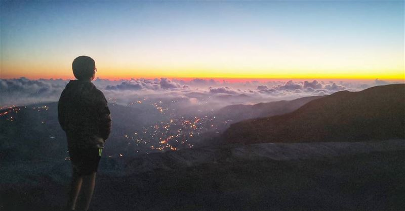 My son My Sunrise and My Sunset💞 son  myson  mysunshine  overtheclouds ... (Faraya, Mont-Liban, Lebanon)