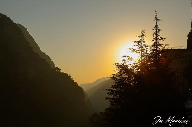 "Qannoubine valley "" Valley Of Saints "".  sunset  mountain  nature  lebanon... (Mar Antonios-Kozhaya)"