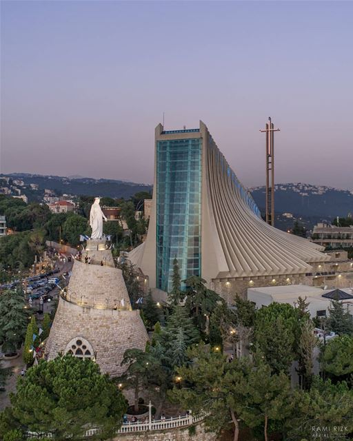 Our Lady Of Lebanon ❤️...  lebanon  jounieh  harissa  ourladyoflebanon... (Our Lady of Lebanon)