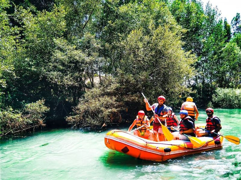 Are you ready for a happy weekend?!Photo by @firassafwan rafting ... (El Hermel, Béqaa, Lebanon)