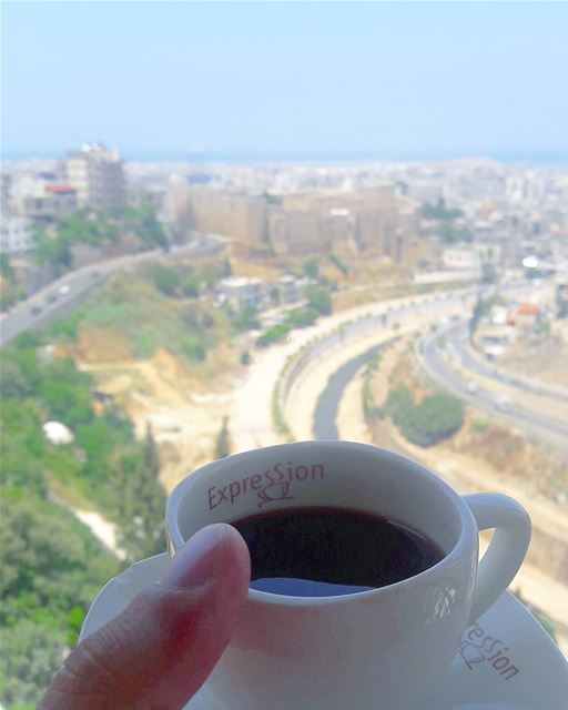☕ on the top of  Tripoli  Lebanon  TripoliLB  castle  river  balconyview ... (Tripoli, Lebanon)