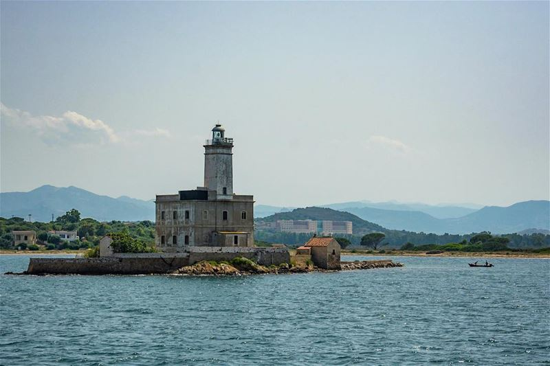 The lighthouse...a snap from  sardinia  coastline showing the old  ...