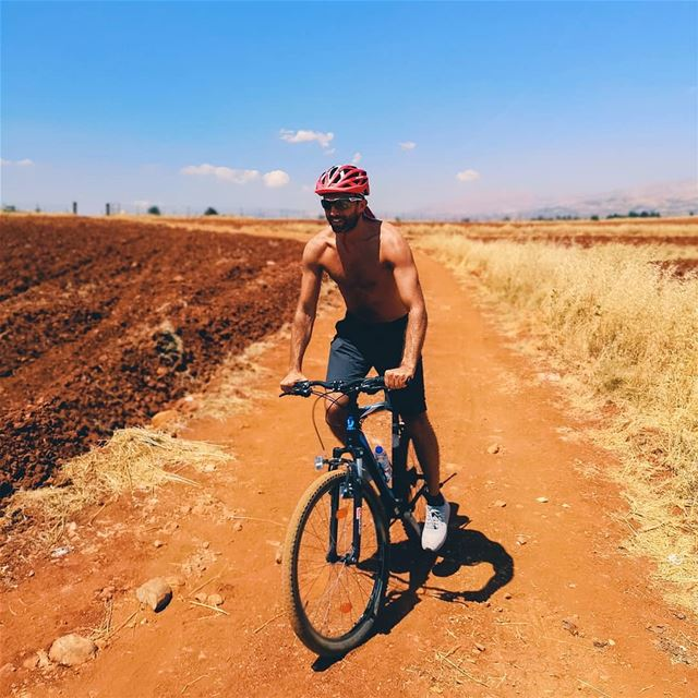 Getting lost 🌾..  cycling ... (Beqaa Valley)