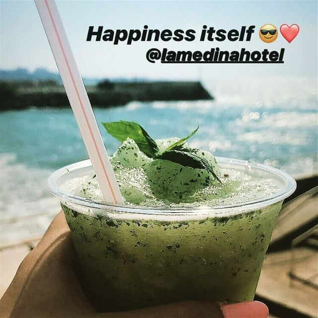Minted lemonade anyone ! Thanks Zeina Yaghi for the tag  LamedinaHotel ... (Lamedina Hotel, Beach Club & Resort)