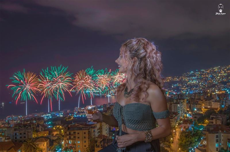 Jounieh fireworks; our WAY!!... (Jounieh International Festival)
