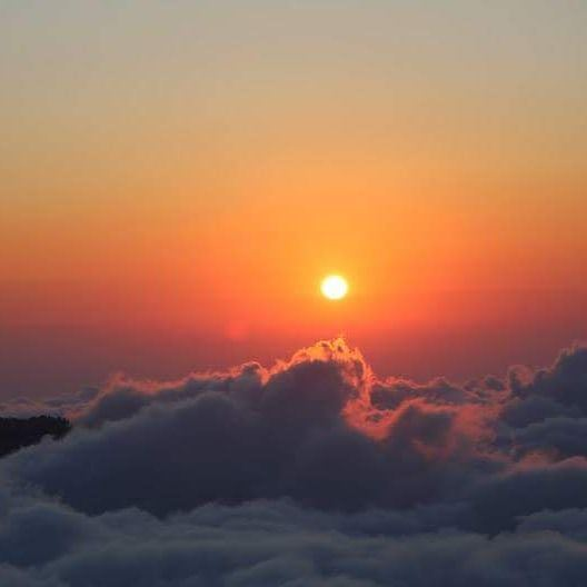 A sunset like no other ! Prosecco over the clouds tourleb  tourlebanon ... (Al Jourd Natural Reserve)