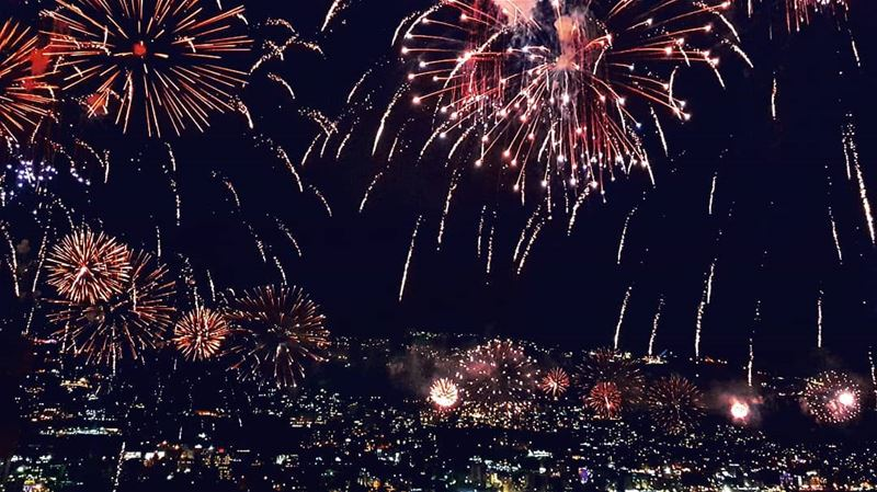 Lebanon  Jounieh  fireworks  festival ... (Nippon Sushi & Grill)