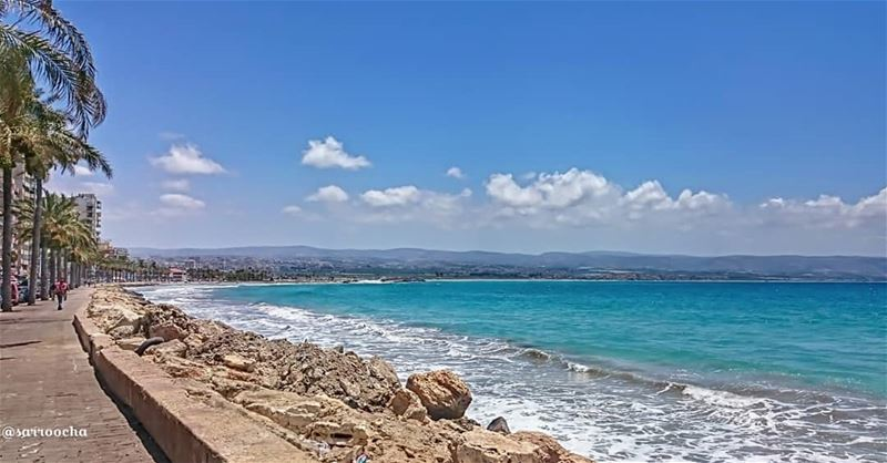 Tyre Beach is known to many as the most beautiful beach in Lebanon 😍😍😍 ... (Tyre District)