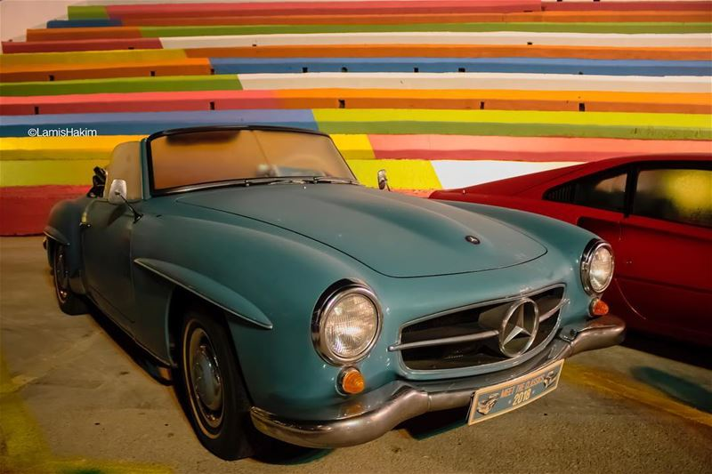 The beautiful 1962 Mercedes-Benz 190SL convertible  at the ... (Aley)