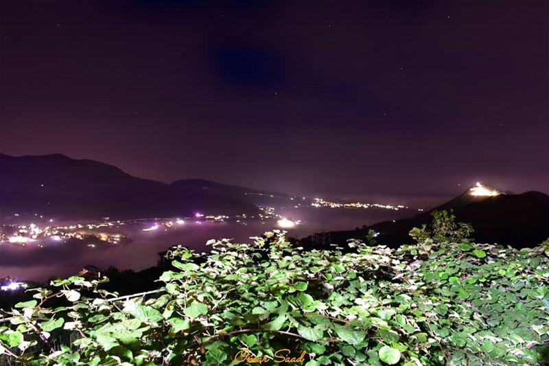 A beautiful view from North Lebanon  nightphotography  lebanoninstagram ... (Bcharreh, Liban-Nord, Lebanon)