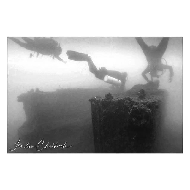 Low visibility wreck diving -  ichalhoub was in Jounieh  Lebanon shooting ...