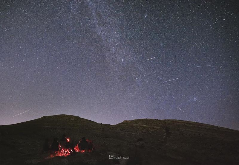 💫 perseid meteor shower astrophotography  summer2018....... (Akoura, Mont-Liban, Lebanon)
