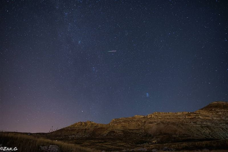 The Perseids  milkywaychasers  nightview  lebanon  nikonphotography ... (Akoura, Mont-Liban, Lebanon)