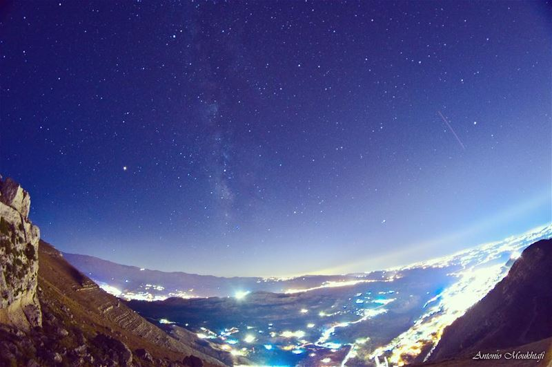 Our Sky is Better then Yours!  darkbluesky   stars  milkyway ... (Ehdène, Liban-Nord, Lebanon)