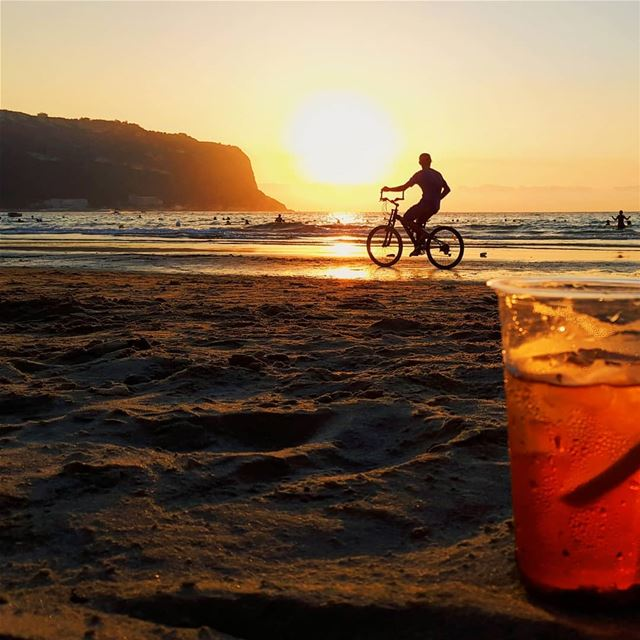 Let the sun set...  nowherebeach  aperolspritz  aperol  lebanon ...